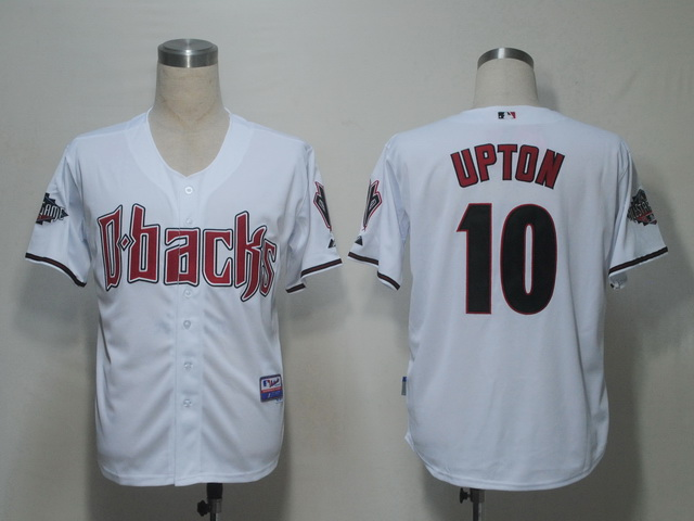 MLB Jerseys Arizona Diamondbacks 10 Upton White softball jerseys