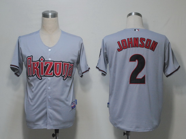 MLB Jerseys Arizona Diamondbacks 2 Johnson Grey softball jerseys
