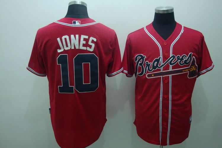 MLB Jerseys Atlanta Braves 10 Jones Red softball jerseys