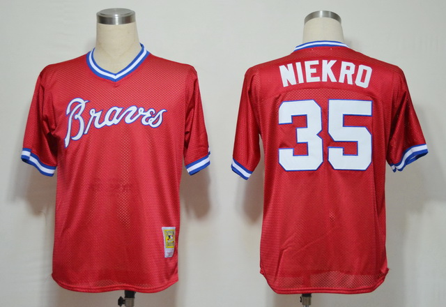 MLB Jerseys Atlanta Braves 35 Red softball jerseys