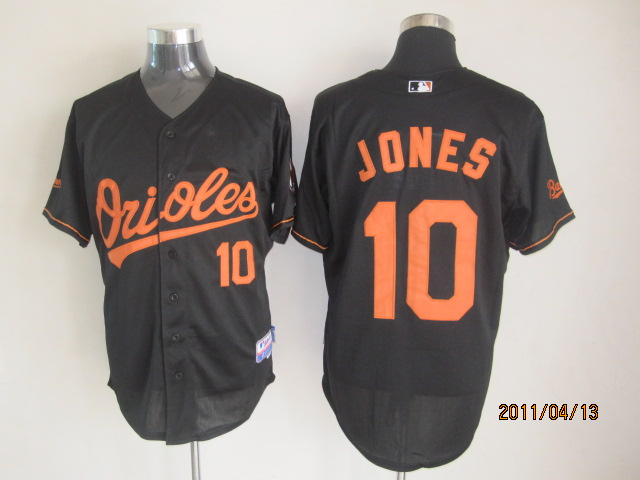 MLB Jerseys Baltimore Orioles 10 Jones Black softball jerseys