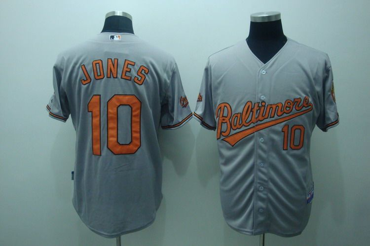 MLB Jerseys Baltimore Orioles 10 Jones Gray softball jerseys