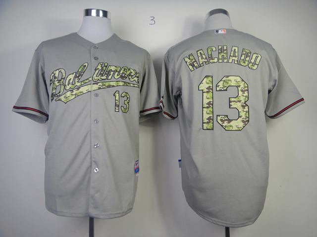 MLB Jerseys Baltimore Orioles 13 Machado Camo Grey softball jerseys