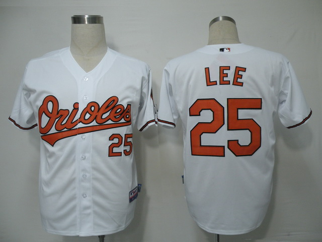 MLB Jerseys Baltimore Orioles 25 LEE White softball jerseys