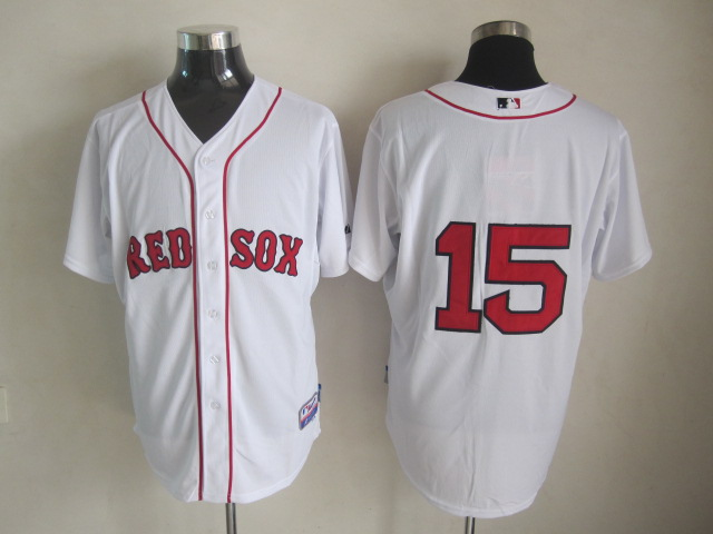 MLB Jerseys Boston Red Sox 15 Pedroia White softball jerseys