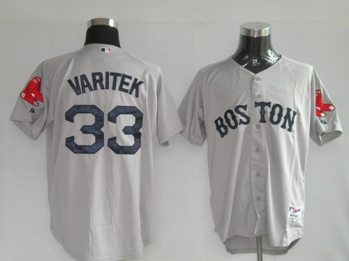 MLB Jerseys Boston Red Sox 33 Varitek Grey softball jerseys