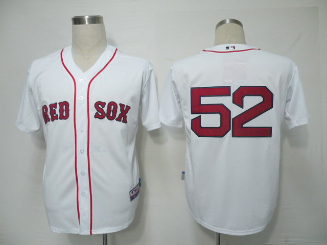 MLB Jerseys Boston Red Sox 52 Jenks White softball jerseys