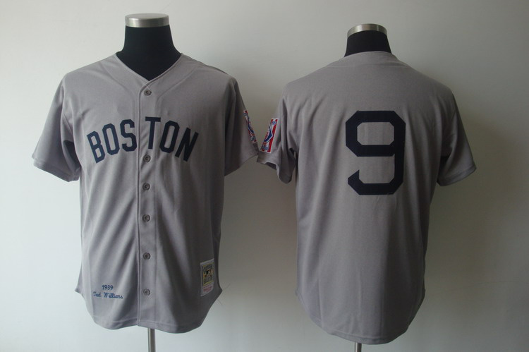 MLB Jerseys Boston Red Sox 9 Willams Grey softball jerseys