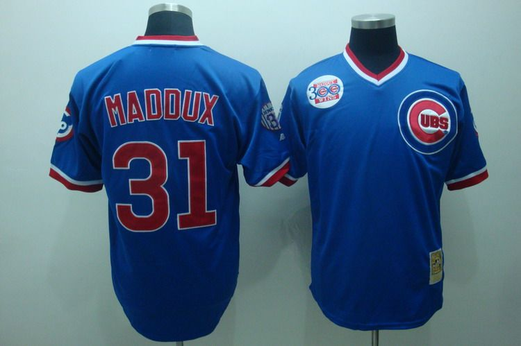 MLB Jerseys Chicago Cubs 31 Maddux Blue softball jerseys