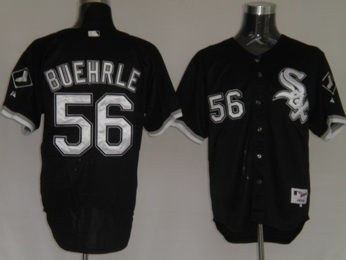 MLB Jerseys Chicago White Sox 56 Buehrle Black softball jerseys
