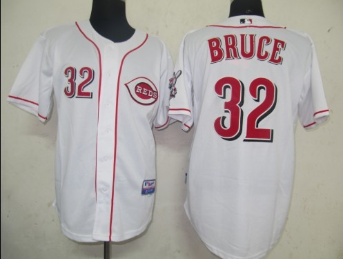 MLB Jerseys Cincinnati Reds 32 Bruce White softball jerseys