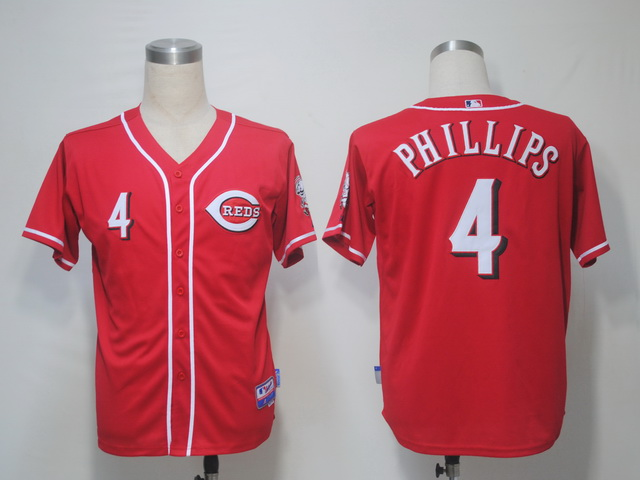 MLB Jerseys Cincinnati Reds 4 Phillips Red softball jerseys