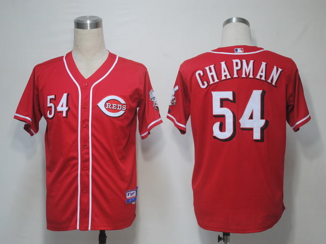 MLB Jerseys Cincinnati Reds 54 Chapman Red softball jerseys