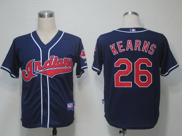 MLB Jerseys Cleveland Indians 26 Kearns Navy softball jerseys