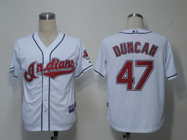 MLB Jerseys Cleveland Indians 47 Duncan White softball jerseys