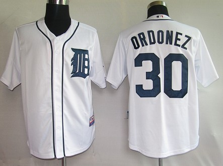MLB Jerseys Detroit Tigers 30 Ordonez White softball jerseys