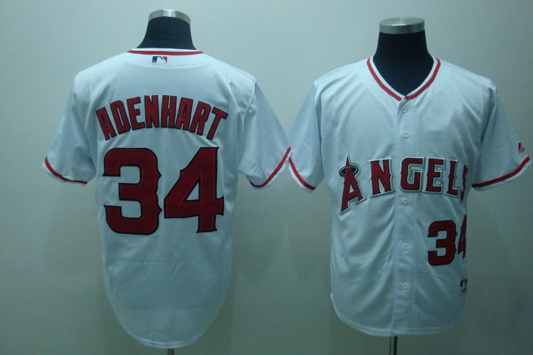 MLB Jerseys Los Angeles Angels 34 Adenhart White softball jerseys