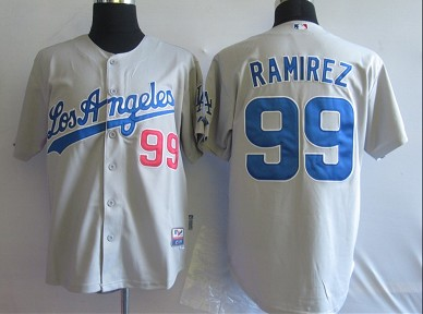 MLB Jerseys Los Angeles Dodgers 99 Ramirez Grey softball jerseys