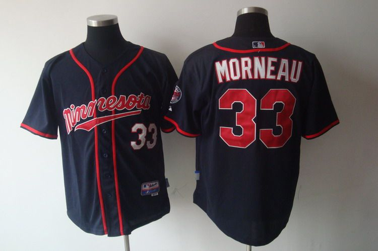 MLB Jerseys Minnesota Twins 33 Morneau new Navy softball jerseys