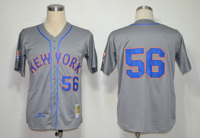 MLB Jerseys New York Mets 56 McGraw Grey softball jerseys