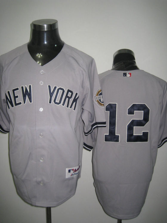 MLB Jerseys New York Yankees 12 Ransom Grey softball jerseys
