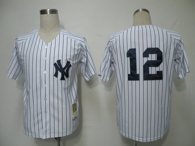 MLB Jerseys New York Yankees 12 Ransom White softball jerseys
