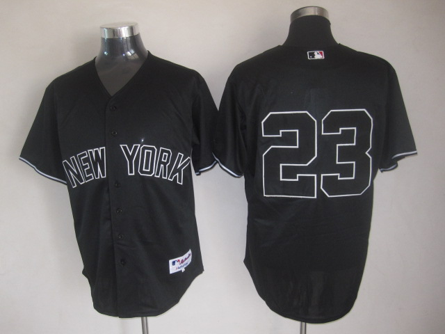 MLB Jerseys New York Yankees 23 Black softball jerseys