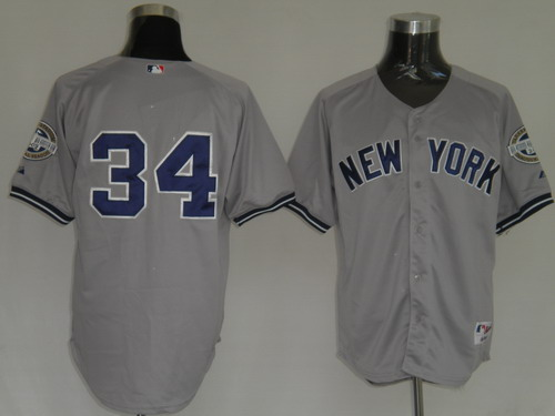 MLB Jerseys New York Yankees 34 Burnett Grey softball jerseys