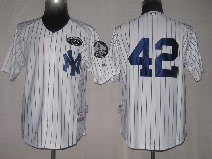 MLB Jerseys New York Yankees 42 Mariano Rivera White softball jerseys