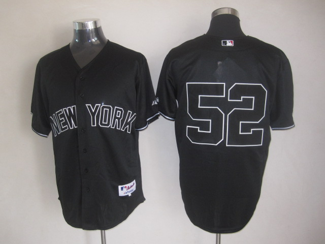 MLB Jerseys New York Yankees 52 Sabathia Black softball jerseys