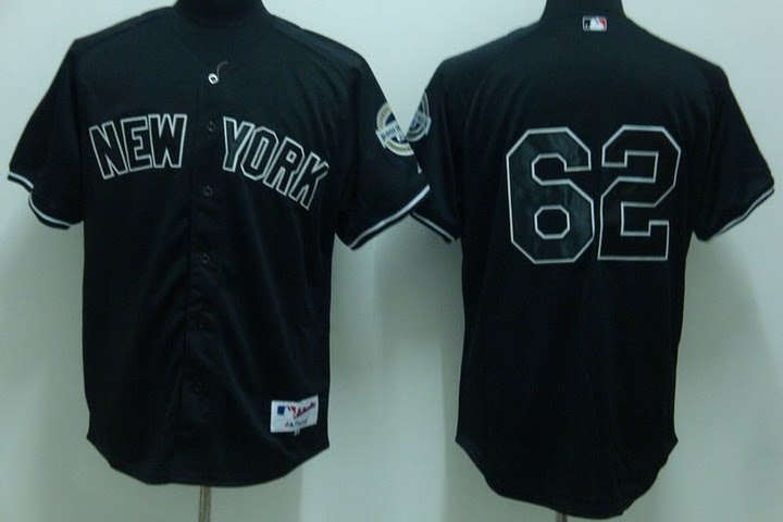 MLB Jerseys New York Yankees 62 Chamberlain Black softball jerseys