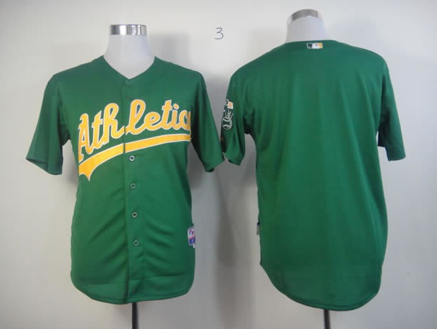 MLB Jerseys Oakland Athletics Blank Green softball jerseys