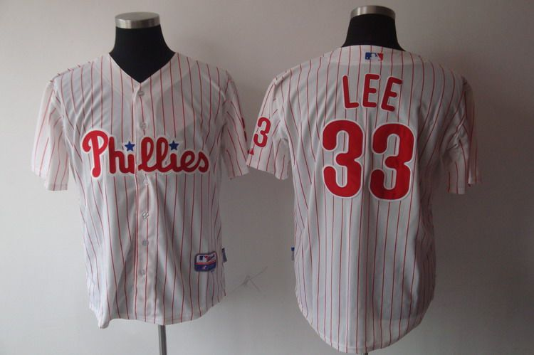 MLB Jerseys Philadelphia Phillies 33 LEE White softball jerseys