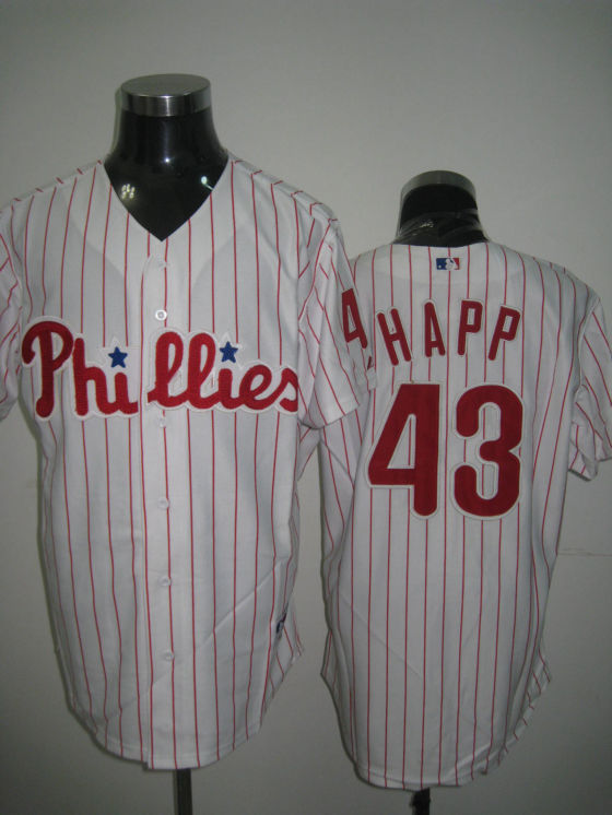 MLB Jerseys Philadelphia Phillies 43 Happ White softball jerseys