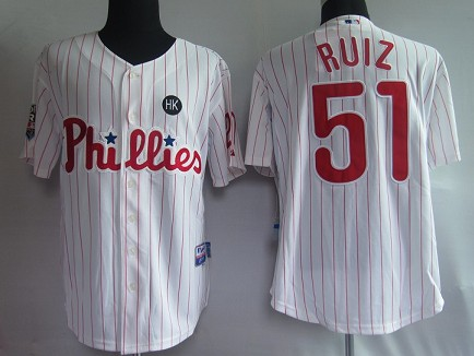 MLB Jerseys Philadelphia Phillies 51 Ruiz White softball jerseys