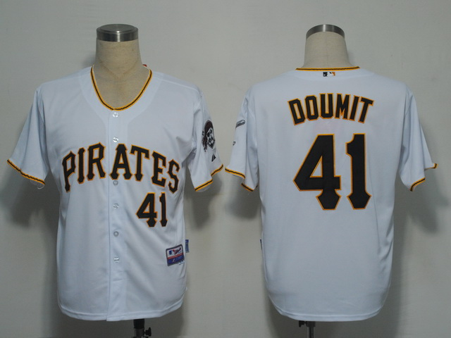 MLB Jerseys Pittsburgh Pirates 41 Doumit White softball jerseys
