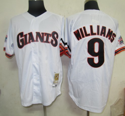 MLB Jerseys San Francisco Giants 9 Williams White softball jerseys
