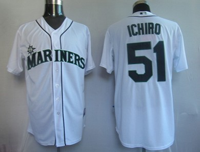 MLB Jerseys Seattle Mariners 51 Ichiro White softball jerseys