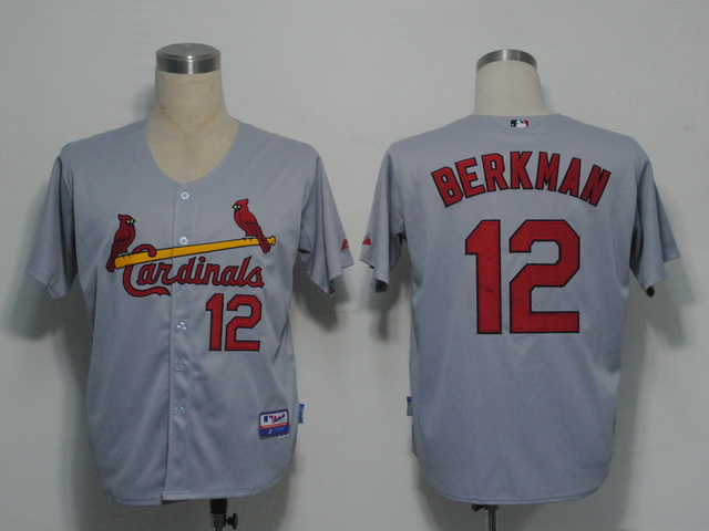 MLB Jerseys St.Louis Cardinals 12 Berkman Grey softball jerseys