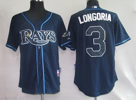 MLB Jerseys Tampa Bay Rays 3 Longoria Navy softball jerseys