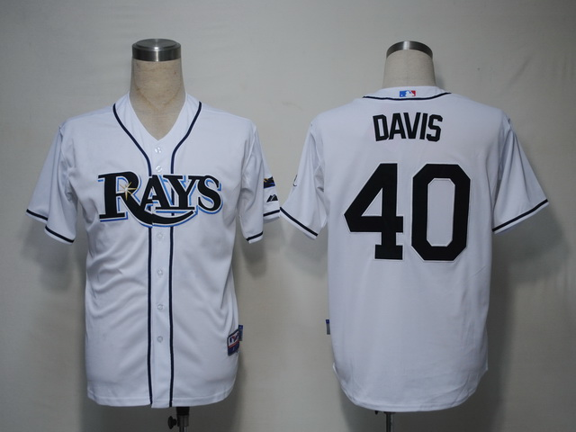 MLB Jerseys Tampa Bay Rays 40 Davis White softball jerseys
