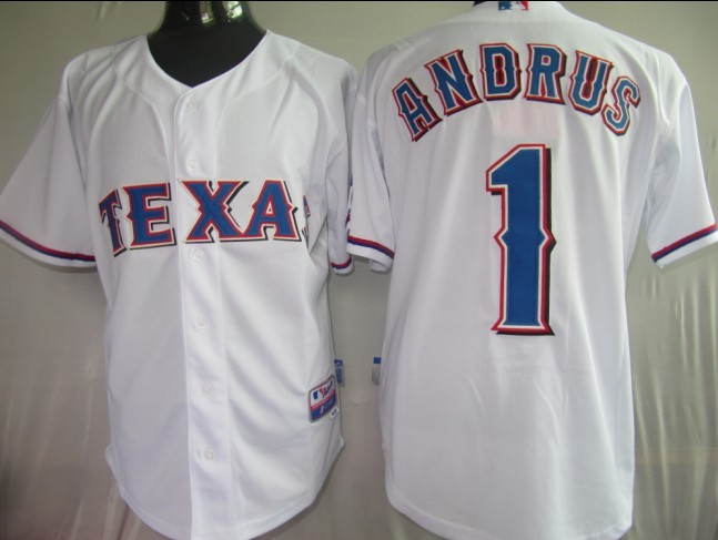 MLB Jerseys Texas Rangers 1 Andrus White softball jerseys