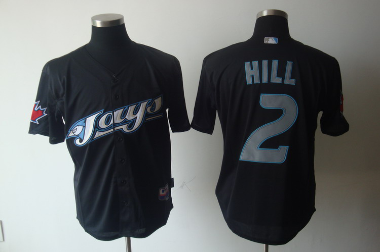MLB Jerseys Toronto Blue Jays 2 Hill Black softball jerseys