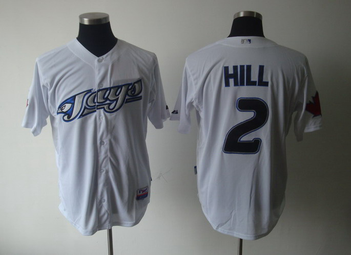 MLB Jerseys Toronto Blue Jays 2 Hill White softball jerseys