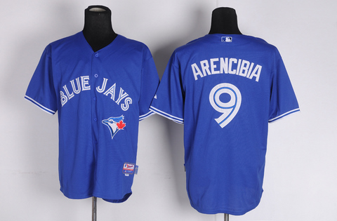 MLB Jerseys Toronto Blue Jays 9 Arencibia Blue softball jerseys